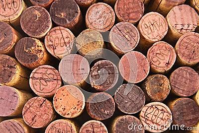 Different  wine cork tops