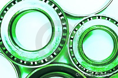 Differential bearings used auto parts abstract