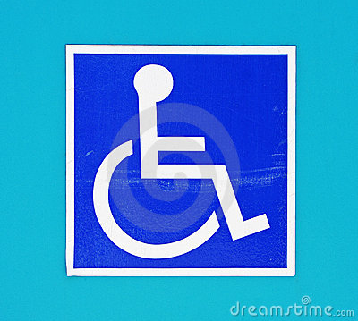 Free Differently-abled Wheechair Sign Stock Images - 11078174