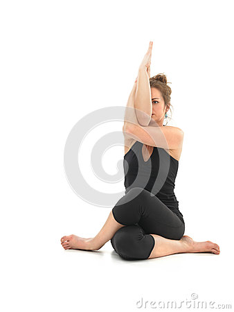 Difficult yoga pose