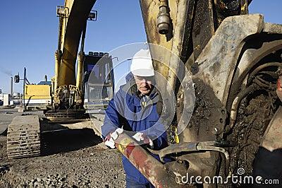 Digger and driver close-ups