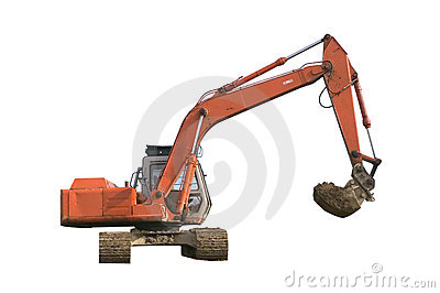 Digger Isolated