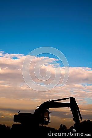 Digger sunset