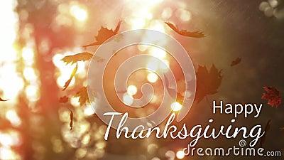 Digitaal geproduceerde video van gelukkige dankzegging stock footage