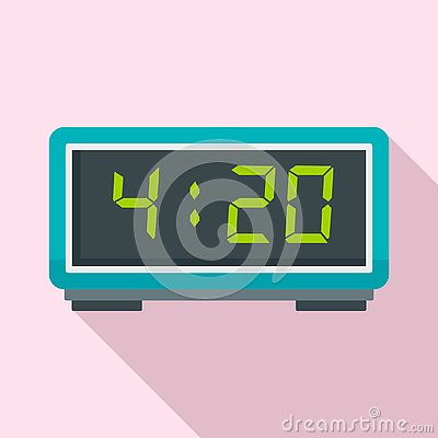 Free Digital Alarm Clock Icon, Flat Style Royalty Free Stock Photography - 129479747
