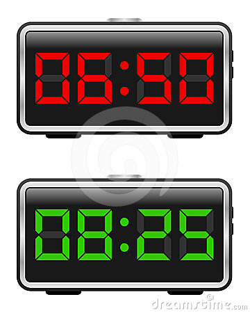 Free Digital Alarm Clock Set Stock Photography - 24416472