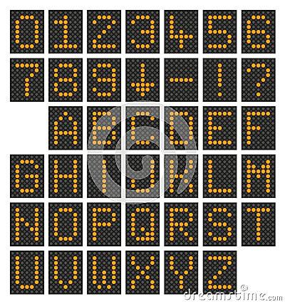 Digital alphabet & numbers