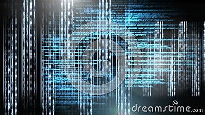 Digital animation of binary technology code