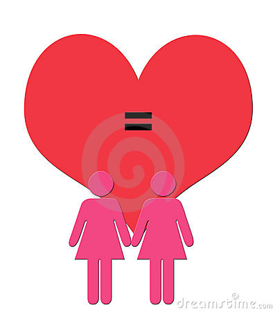 Digital Art Illustration of female Couple Figures  in Pink in f
