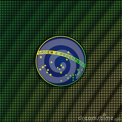 Free Digital Background With Blue Disc Of Flag Brazil Stock Photography - 41329122
