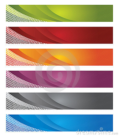 Digital banners in gradient and lines