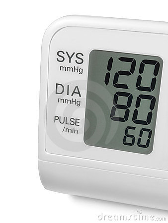 Digital blood pressure wrist tonometer monitor