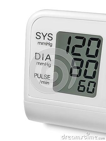 Digital blood pressure wrist tonometer monitor
