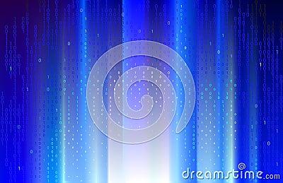 Digital blue rays.