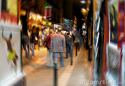 Digital Blur of Latin Quarter in Paris