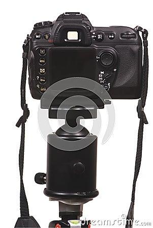 Free Digital Camera DSLR On Tripod Stock Image - 2008131
