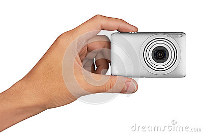 Digital camera in hand