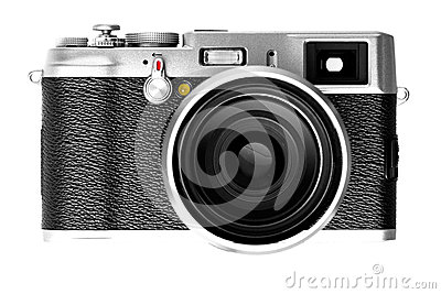 Digital camera isolated on white background DSLR
