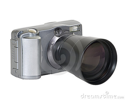 Digital camera with long lens