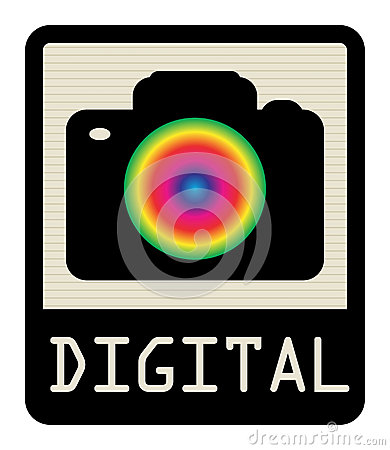 Digital camera sign