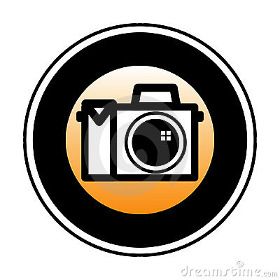 Digital Camera Symbol Stock Photo