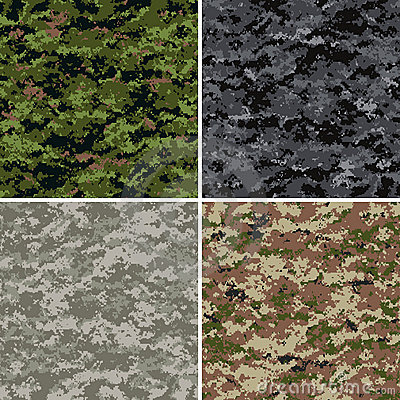 Free Digital Camouflage Patterns Stock Image - 9656191