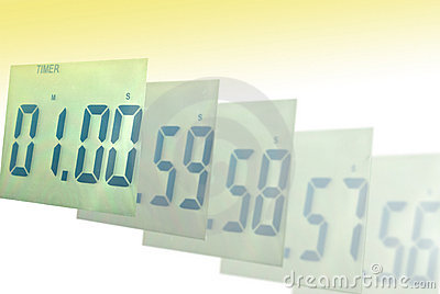 Digital clock blur to one minute