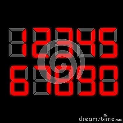 digital clock numbers royalty free stock image image