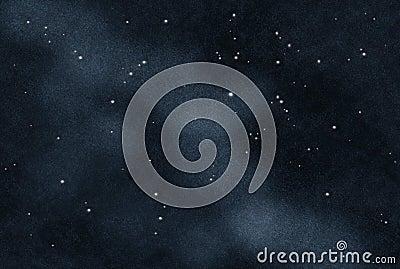 Digital created starfield