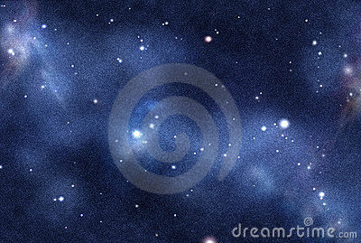 Digital created starfield