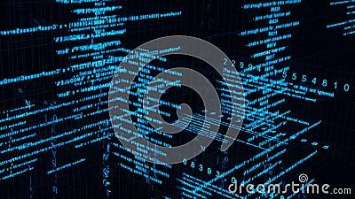 Digital Data Matrix Stock Footage Video 41785848