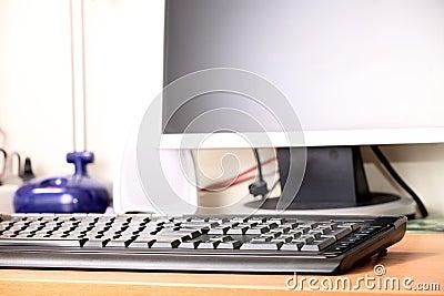 The digital display and keyboard