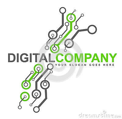 Free Digital Electronics Logo Royalty Free Stock Images - 29634649