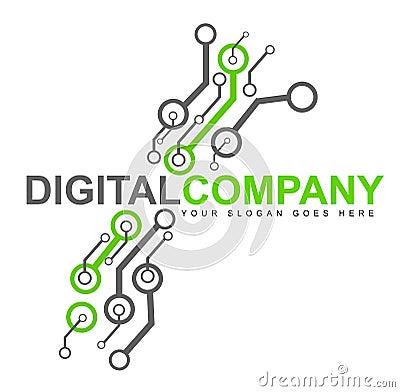 Digital Electronics Logo Royalty Free Stock Images - Image: 29634649