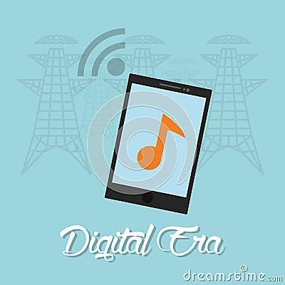 Digital era technology graphic design, vector illustration.: www.dreamstime.com/stock-illustration-digital-era-technology...