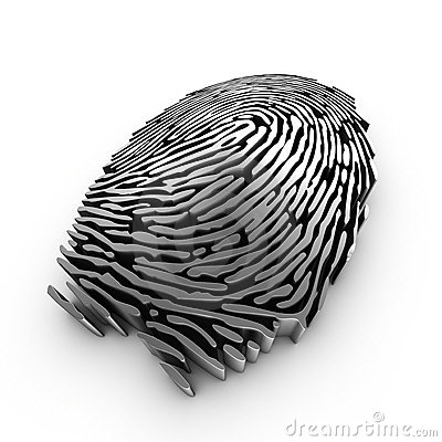 Free Digital Fingerprint For Authentication Royalty Free Stock Images - 16355779