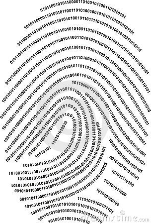 Digital fingerprint  - made with numbers !!!