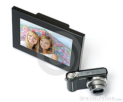 Digital frame with camera