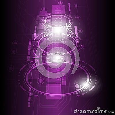 Digital future technology background