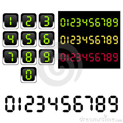 Digital geführte Zahlen