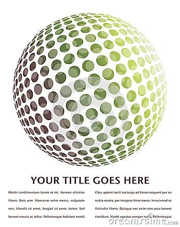 Digital globe design.