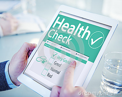 Digital Health Check Healthcare Concept Stock Photo