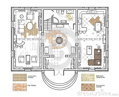 digital illustration floor plan stock illustration