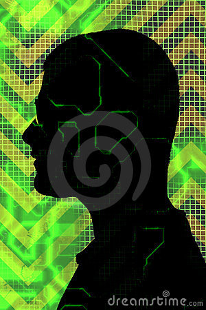 Digital Man Silhouette