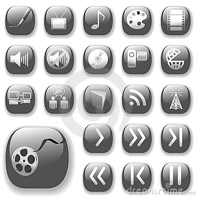 Digital Media Art Icons Set