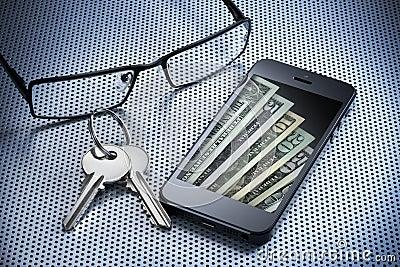 Digital Money Wallet Cell Phone