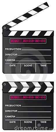 Digital movie clapper board isolated