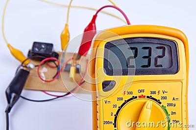 Digital multimeter with board
