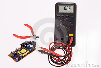 Digital multimeter and electronics components