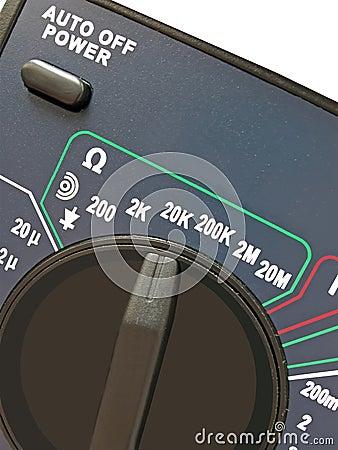 Digital multimeter, switch, different measurement